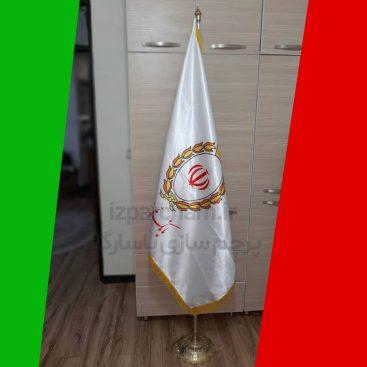 نمونه کار چاپ پرچم تشریفات بانک ملی