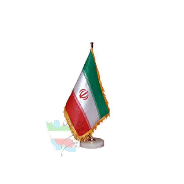 پرچم-رومیزی-ایران-با-پایه-سنگی